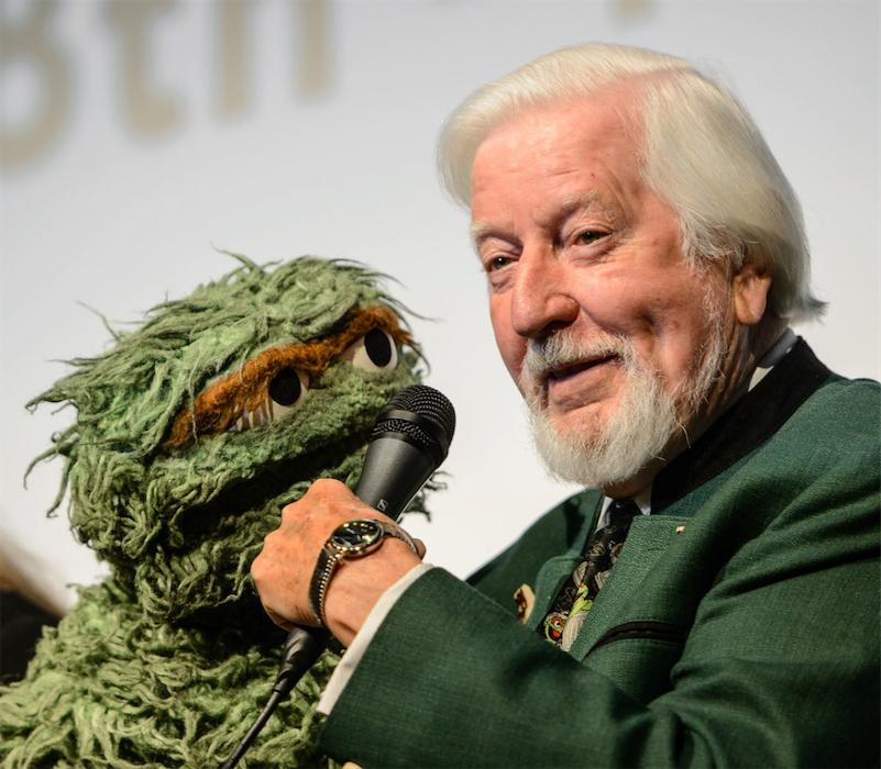 Puppeteer Caroll Spinney Big Bird And Oscar The Grouch