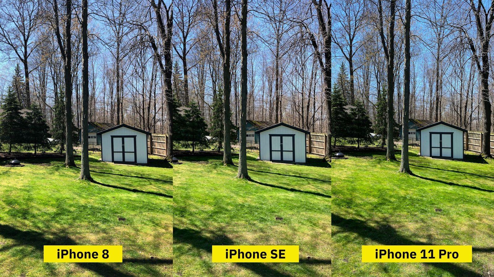 So sánh hình ảnh của iPhone SE và một số đối thủ